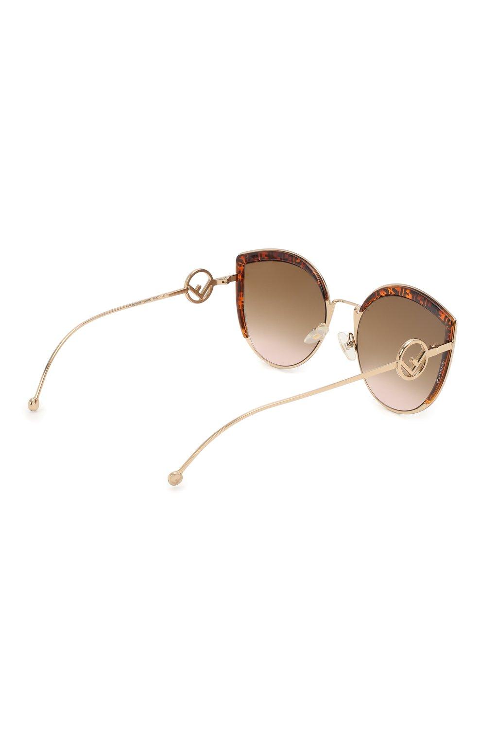 Женские солнцезащитные очки FENDI коричневого цвета, арт. 0290 VH8 | Фото 4