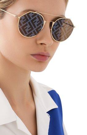 Женские солнцезащитные очки FENDI желтого цвета, арт. M0021 DYG   Фото 2