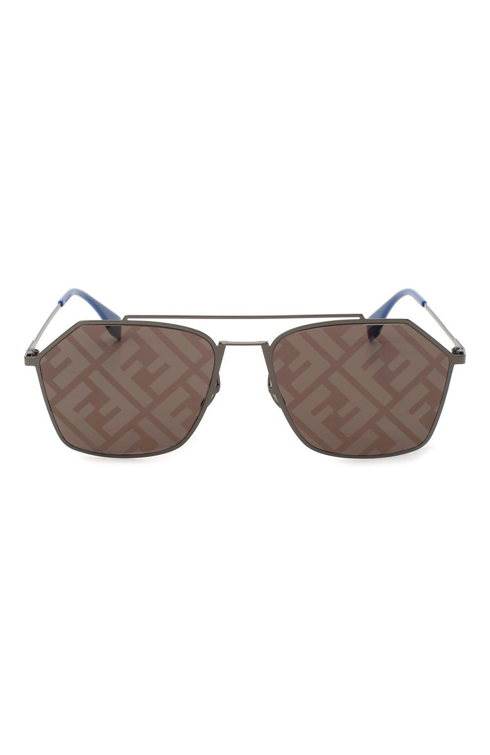 Женские солнцезащитные очки FENDI темно-серого цвета, арт. M0022 5UV | Фото 4