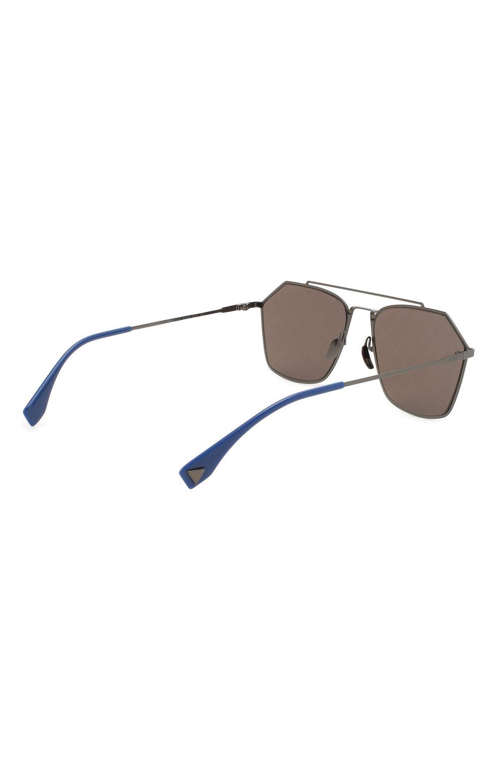 Женские солнцезащитные очки FENDI темно-серого цвета, арт. M0022 5UV | Фото 5