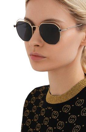 Мужские солнцезащитные очки JIMMY CHOO серого цвета, арт. FRANNY J5G | Фото 2
