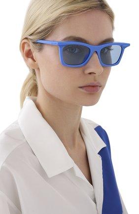 Женские солнцезащитные очки BALENCIAGA синего цвета, арт. BB0099S 004 | Фото 2