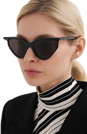 Мужские солнцезащитные очки BALENCIAGA черного цвета, арт. BB0101S 001 | Фото 2