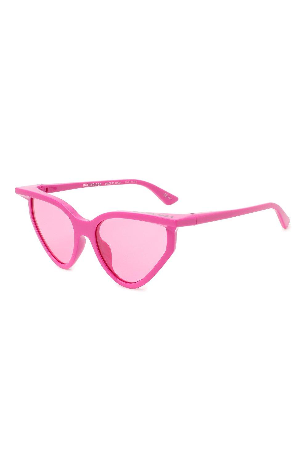 Женские солнцезащитные очки BALENCIAGA розового цвета, арт. BB0101S 003 | Фото 1