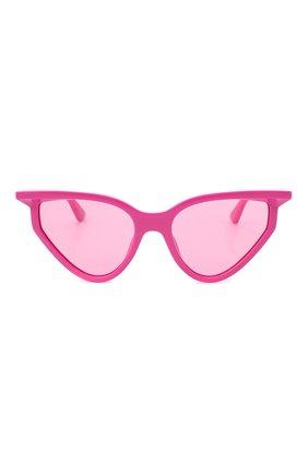 Женские солнцезащитные очки BALENCIAGA розового цвета, арт. BB0101S 003 | Фото 3