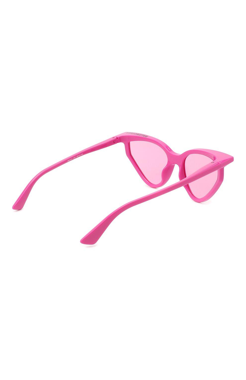 Женские солнцезащитные очки BALENCIAGA розового цвета, арт. BB0101S 003 | Фото 4