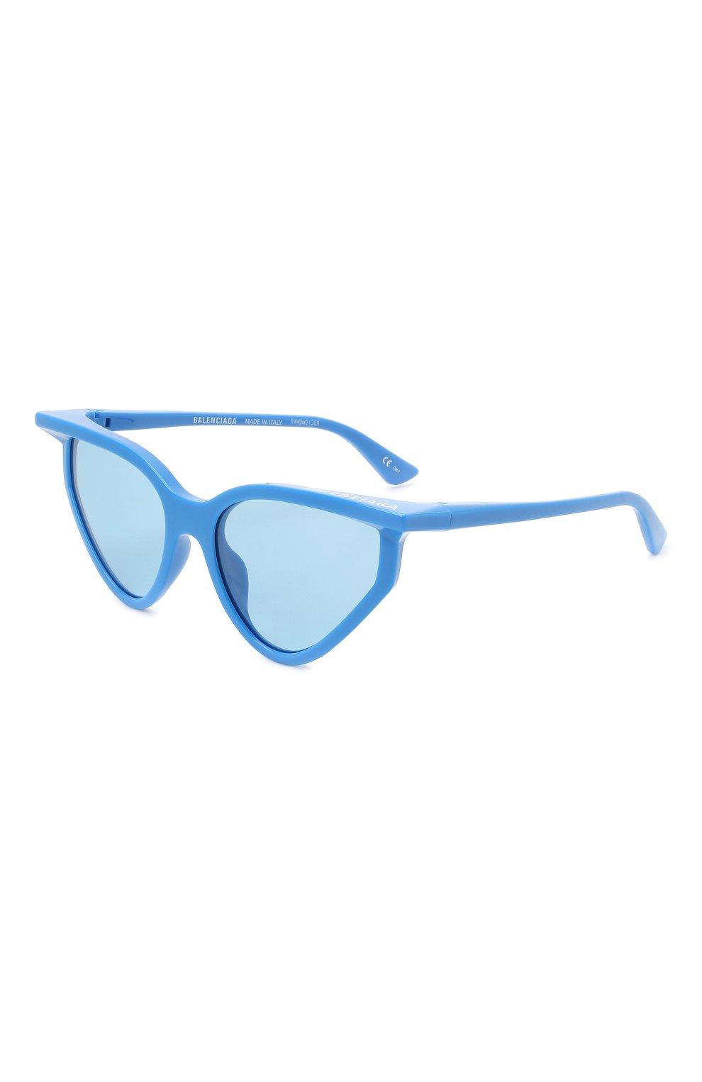 Женские солнцезащитные очки BALENCIAGA синего цвета, арт. BB0101S 004 | Фото 1