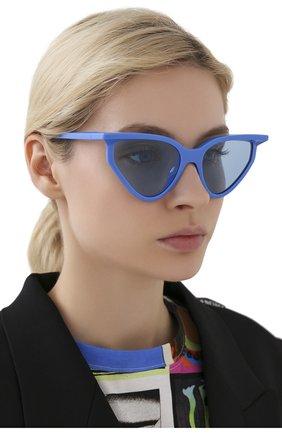Женские солнцезащитные очки BALENCIAGA синего цвета, арт. BB0101S 004 | Фото 2