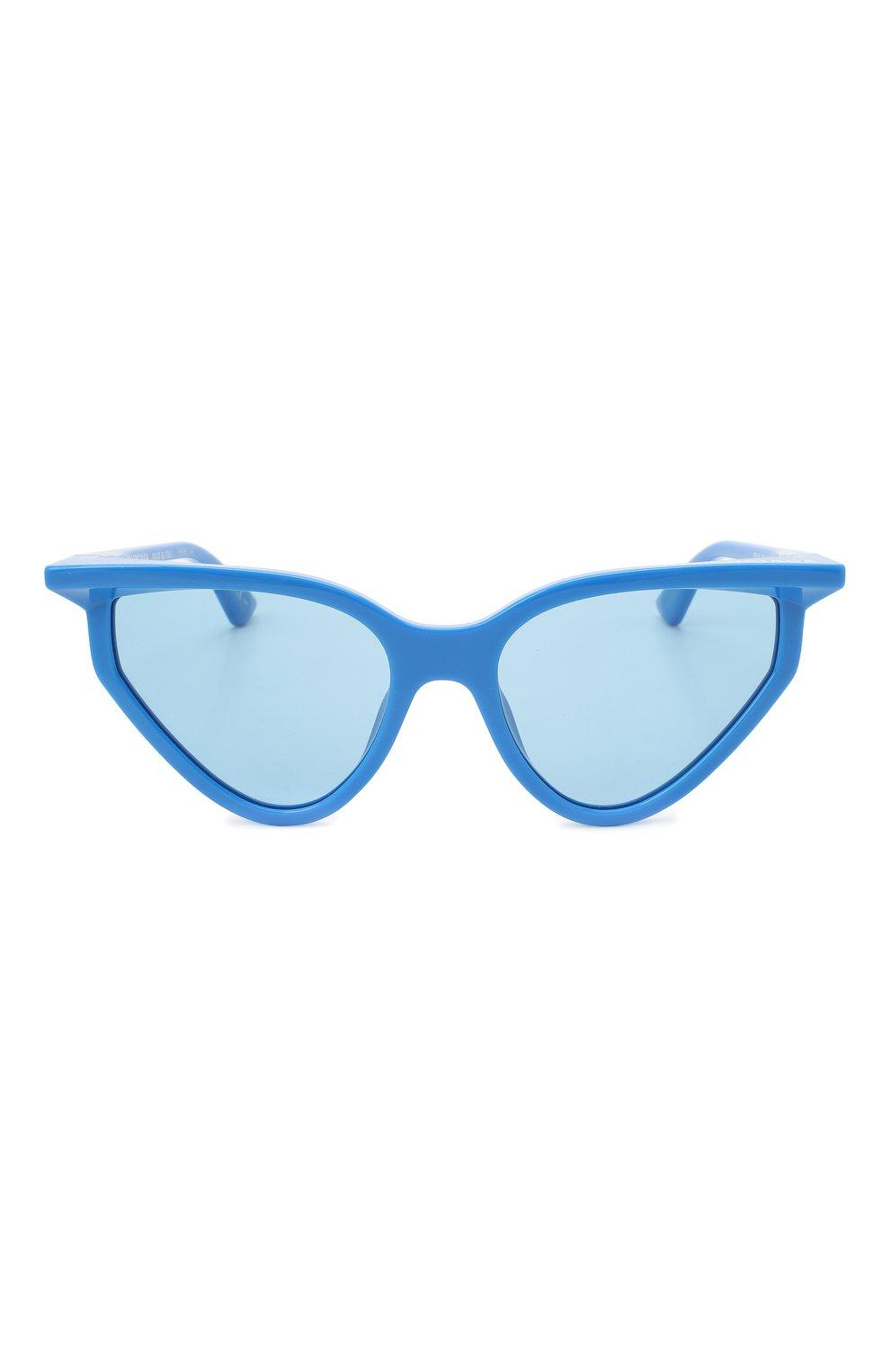 Женские солнцезащитные очки BALENCIAGA синего цвета, арт. BB0101S 004 | Фото 3