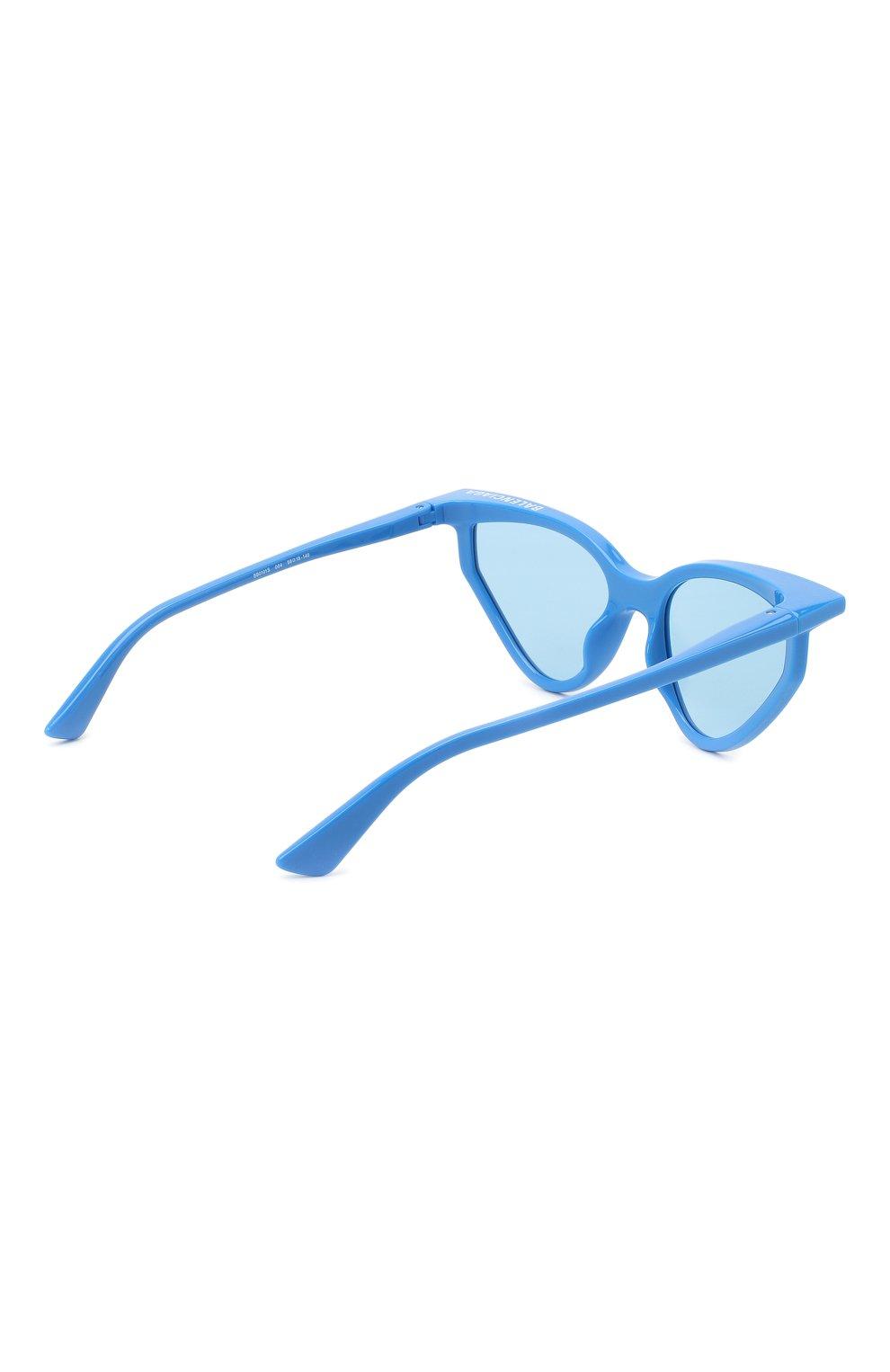 Женские солнцезащитные очки BALENCIAGA синего цвета, арт. BB0101S 004 | Фото 4