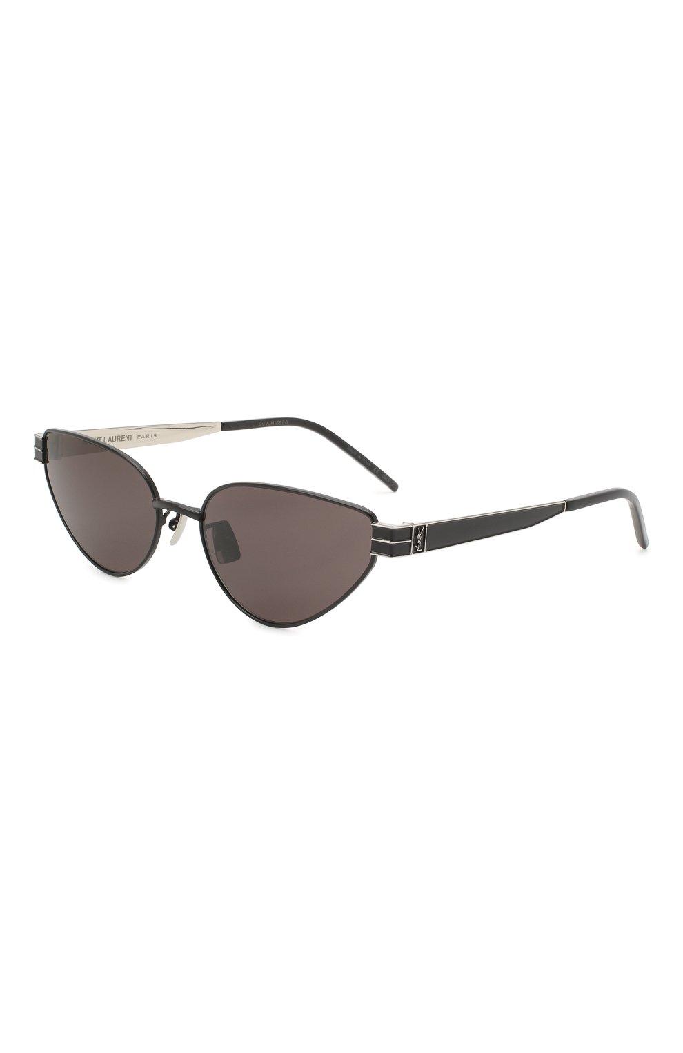Женские солнцезащитные очки SAINT LAURENT черного цвета, арт. SL M51 001 | Фото 1
