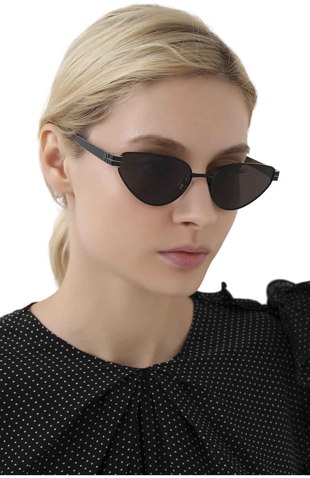 Женские солнцезащитные очки SAINT LAURENT черного цвета, арт. SL M51 001 | Фото 2