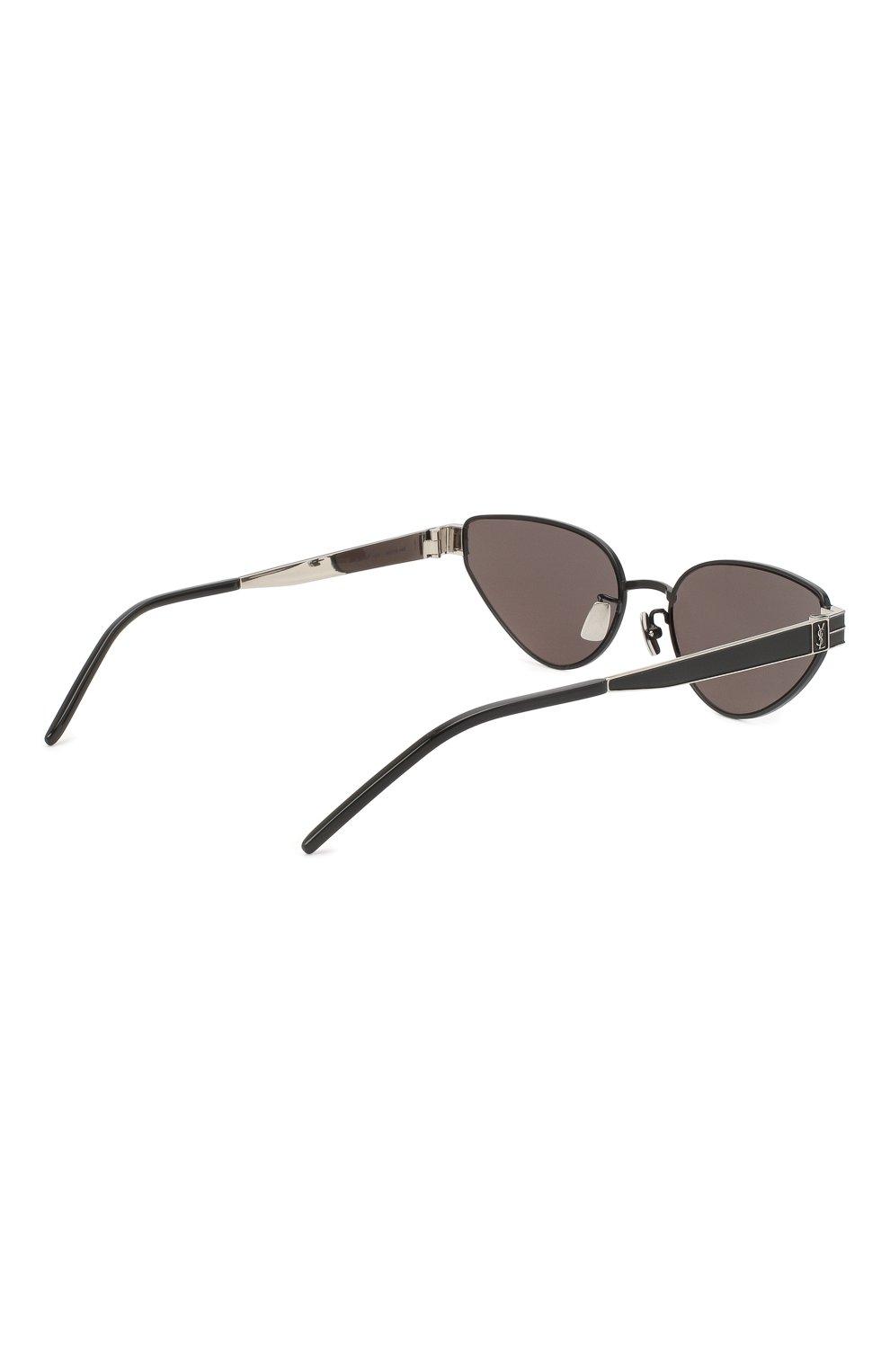 Женские солнцезащитные очки SAINT LAURENT черного цвета, арт. SL M51 001 | Фото 4