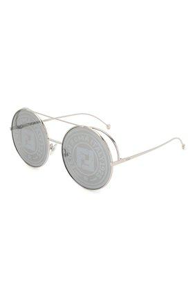 Женские солнцезащитные очки FENDI серебряного цвета, арт. 0285 0IH   Фото 1