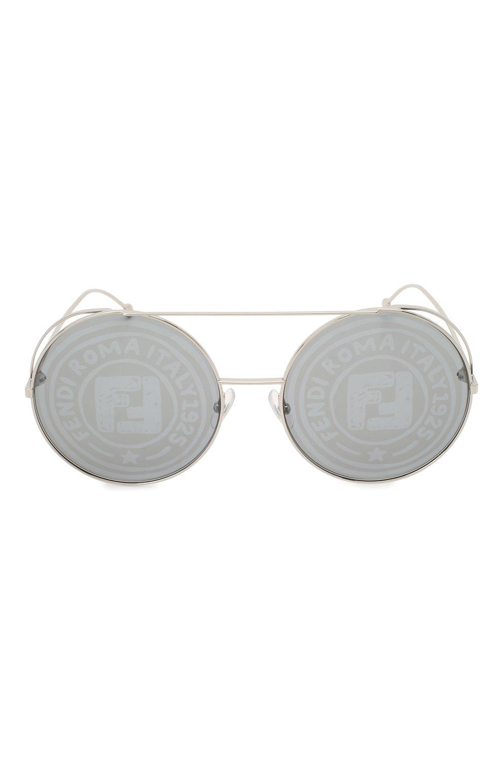 Женские солнцезащитные очки FENDI серебряного цвета, арт. 0285 0IH   Фото 3