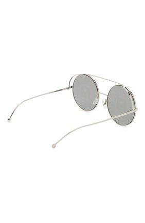 Женские солнцезащитные очки FENDI серебряного цвета, арт. 0285 0IH   Фото 4