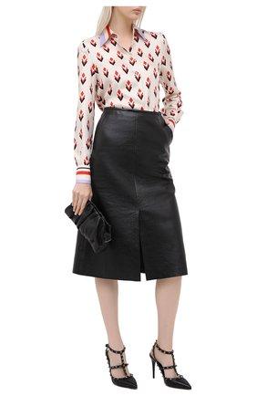 Женская кожаные туфли valentino garavani rockstud VALENTINO черного цвета, арт. UW2S0393/ASH | Фото 2
