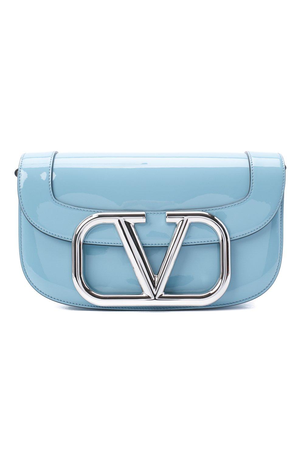 Женская сумка valentino garavani supervee VALENTINO голубого цвета, арт. UW2B0G09/ZEE | Фото 1