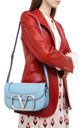 Женская сумка valentino garavani supervee VALENTINO голубого цвета, арт. UW2B0G09/ZEE | Фото 2