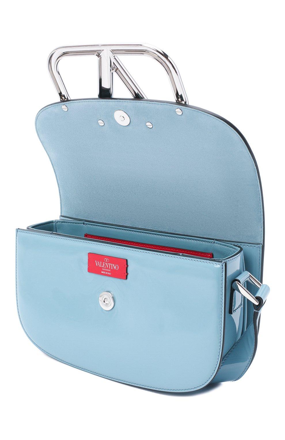 Женская сумка valentino garavani supervee VALENTINO голубого цвета, арт. UW2B0G09/ZEE | Фото 4