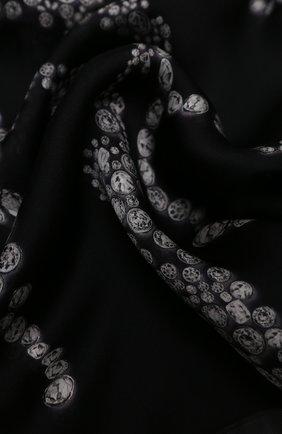 Женская шелковая шаль ALEXANDER MCQUEEN черного цвета, арт. 632889/3011Q | Фото 2
