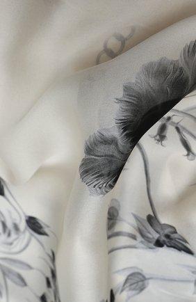 Женская шелковая шаль ALEXANDER MCQUEEN кремвого цвета, арт. 631328/3011Q | Фото 2