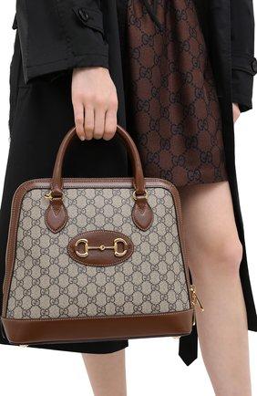 Женская сумка 1955 horsebit GUCCI коричневого цвета, арт. 620850/92TCG | Фото 2