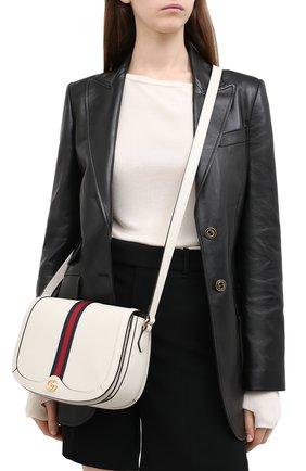 Женская сумка ophidia GUCCI белого цвета, арт. 601044/DJ2DG | Фото 2