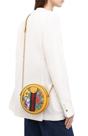 Женская сумка ophidia GUCCI желтого цвета, арт. 550618/92YAC | Фото 2