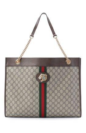 Женская сумка-тоут rajah GUCCI бежевого цвета, арт. 537219/9U8WX | Фото 1