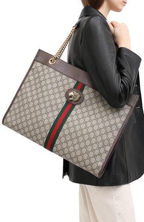 Женская сумка-тоут rajah GUCCI бежевого цвета, арт. 537219/9U8WX | Фото 2