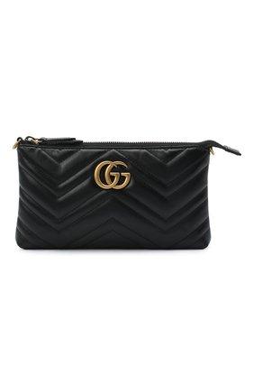 Женская сумка 2.0 marmont GUCCI черного цвета, арт. 443447/DTD1T | Фото 1