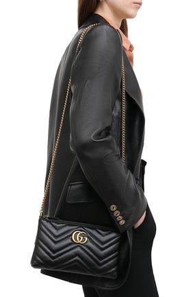 Женская сумка 2.0 marmont GUCCI черного цвета, арт. 443447/DTD1T | Фото 2
