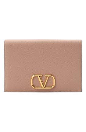 Кожаный футляр для документов Valentino Garavani Vlogo   Фото №1