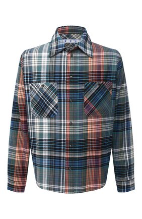 Мужская хлопковая рубашка OFF-WHITE синего цвета, арт. 0MGA133E20FAB0014510   Фото 1