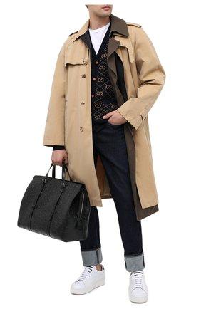 Мужская кожаная дорожная сумка GUCCI черного цвета, арт. 625772/1W3AN | Фото 2