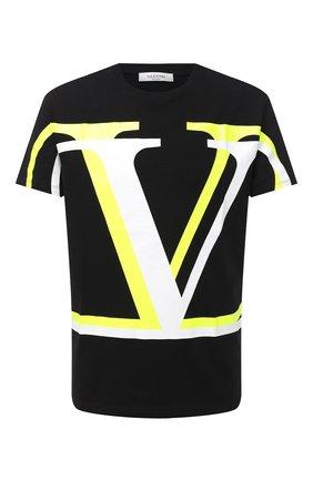 Мужская хлопковая футболка VALENTINO черного цвета, арт. UV3MG08C6K7 | Фото 1