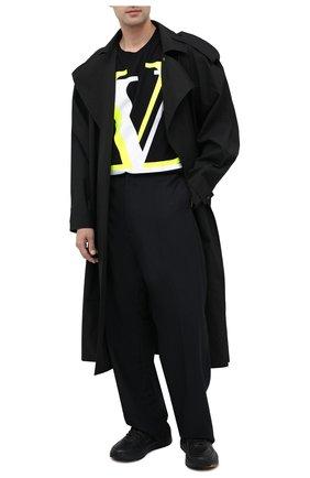Мужская хлопковая футболка VALENTINO черного цвета, арт. UV3MG08C6K7 | Фото 2