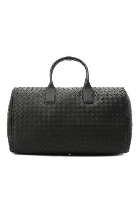 Мужская кожаная дорожная сумка BOTTEGA VENETA черного цвета, арт. 630252/VCRL2 | Фото 1