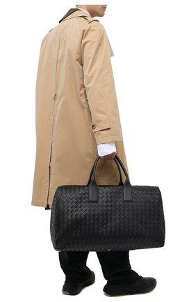 Мужская кожаная дорожная сумка BOTTEGA VENETA черного цвета, арт. 630252/VCRL2 | Фото 2