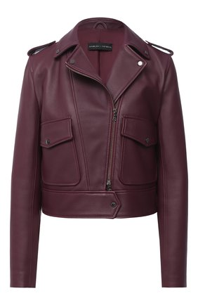 Женская кожаная куртка MASLOV бордового цвета, арт. K02   Фото 1