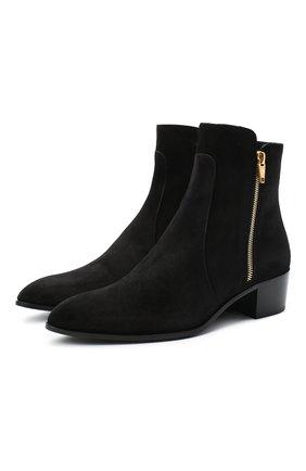 Женские замшевые ботинки roxie BALMAIN черного цвета, арт. UN1C519/LCRY | Фото 1