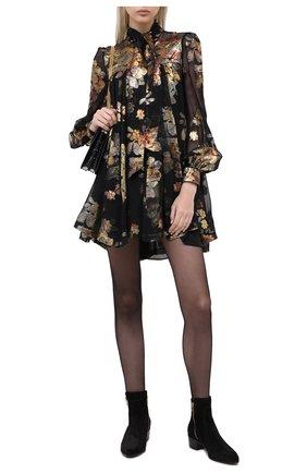 Женские замшевые ботинки roxie BALMAIN черного цвета, арт. UN1C519/LCRY | Фото 2