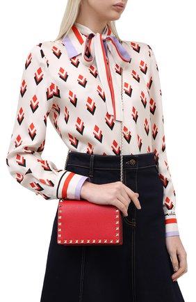 Женская сумка valentino garavani rockstud VALENTINO красного цвета, арт. UW2P0249/VSH | Фото 2