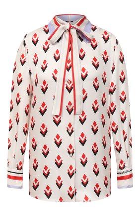 Женская шелковая блузка VALENTINO белого цвета, арт. UB3AB18S5LB   Фото 1