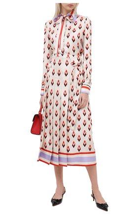 Женская шелковая блузка VALENTINO белого цвета, арт. UB3AB18S5LB   Фото 2
