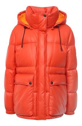 Женский кожаный пуховик YS ARMY PARIS оранжевого цвета, арт. 21WFV20070A24X | Фото 1