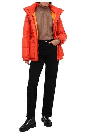 Женский кожаный пуховик YS ARMY PARIS оранжевого цвета, арт. 21WFV20070A24X | Фото 2