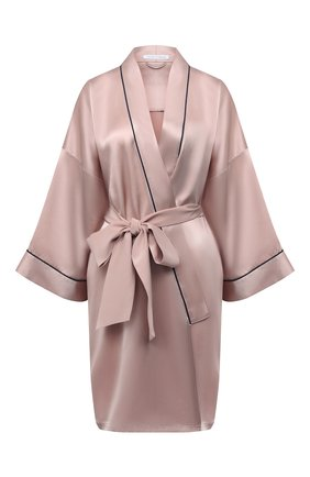 Женский шелковый халат OLIVIA VON HALLE светло-розового цвета, арт. CT0024 | Фото 1