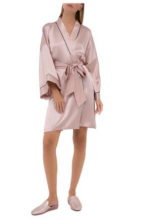 Женский шелковый халат OLIVIA VON HALLE светло-розового цвета, арт. CT0024 | Фото 2